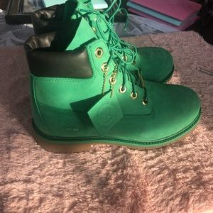Limited edition green Timberland boots